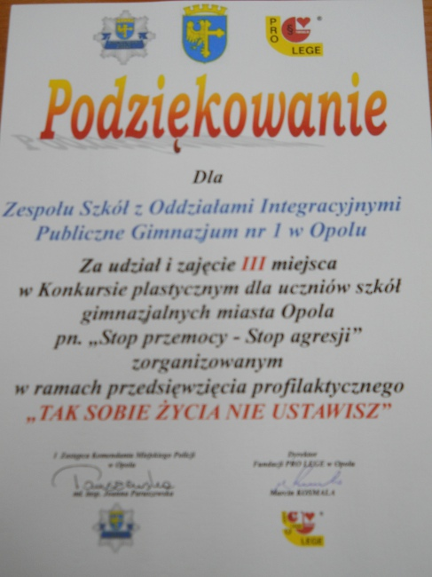 You are browsing images from the article: Stop przemocy - Stop agresji