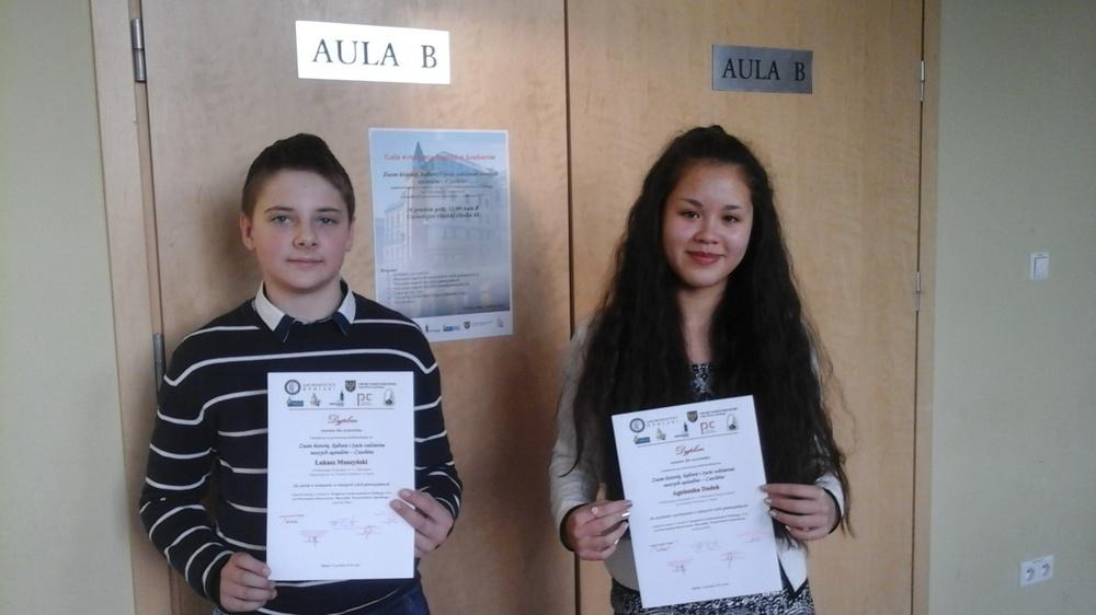You are browsing images from the article: 16.12.2016 – Gala wręczenia nagród w Konkursie Polsko – Czeskim z udziałem naszych uczniów