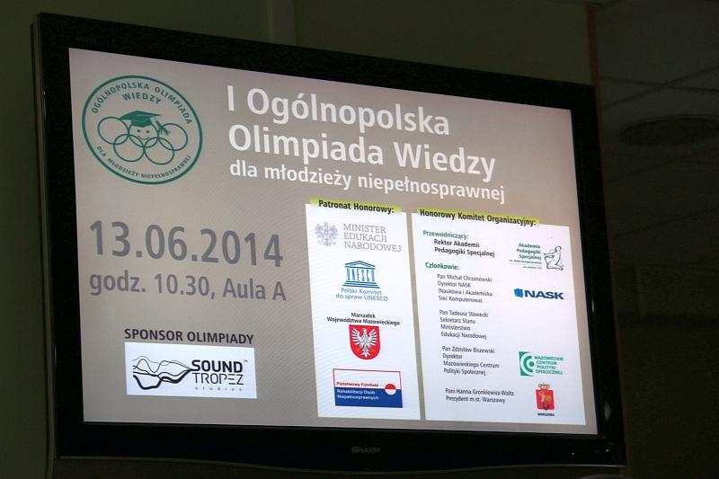 You are browsing images from the article: Sukces na I Ogólnopolskiej Olimpiadzie Wiedzy!