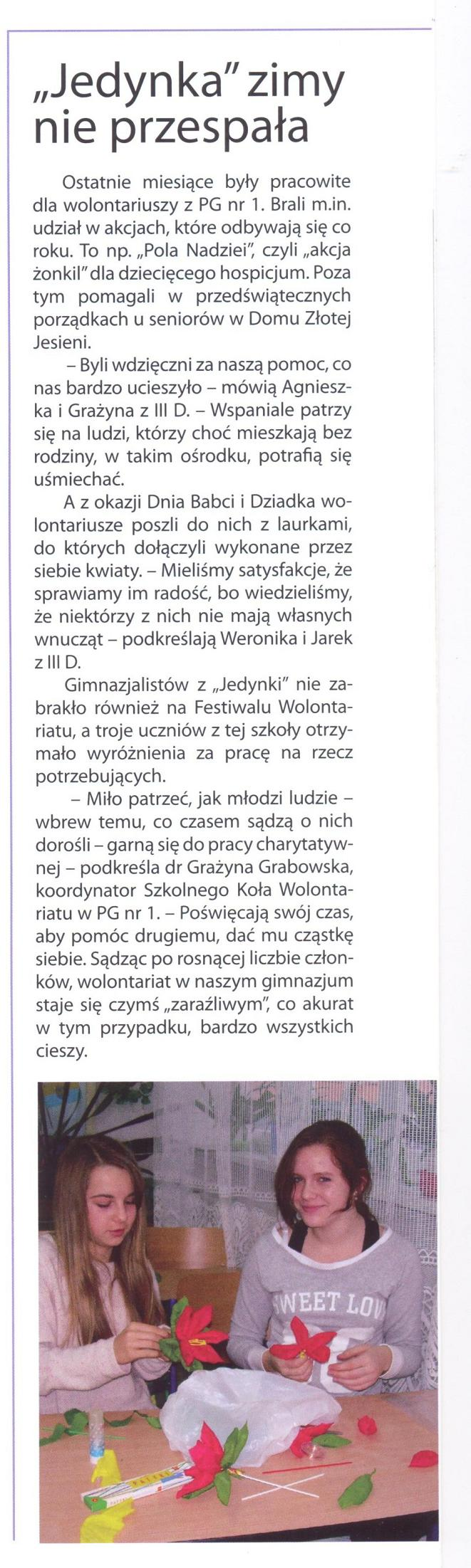 You are browsing images from the article: Mówią i piszą o nas