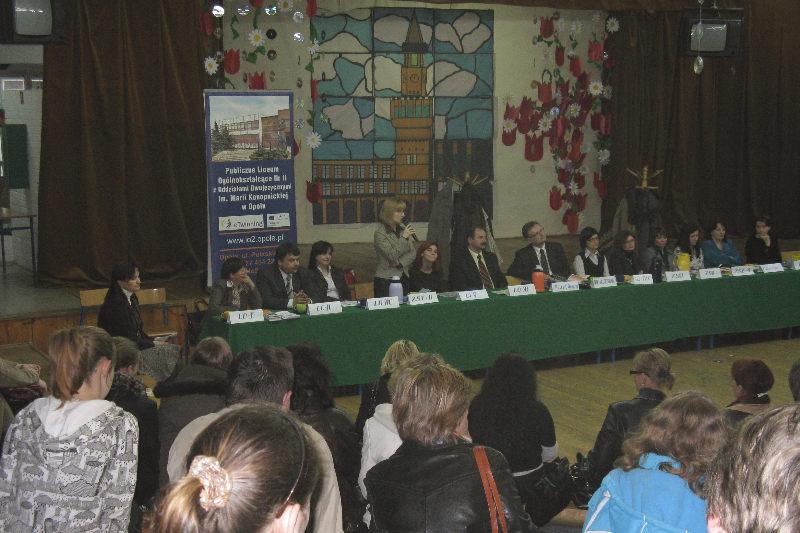You are browsing images from the article: Spotkanie z przedstawicielami szkół ponadgimnazjalnych - 07.04.2008 rok