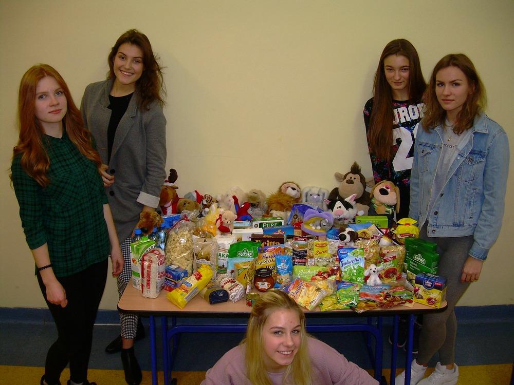 You are browsing images from the article: Działania WOLONTARIATU w PG1 – akcja zbierania żywności i zabawek